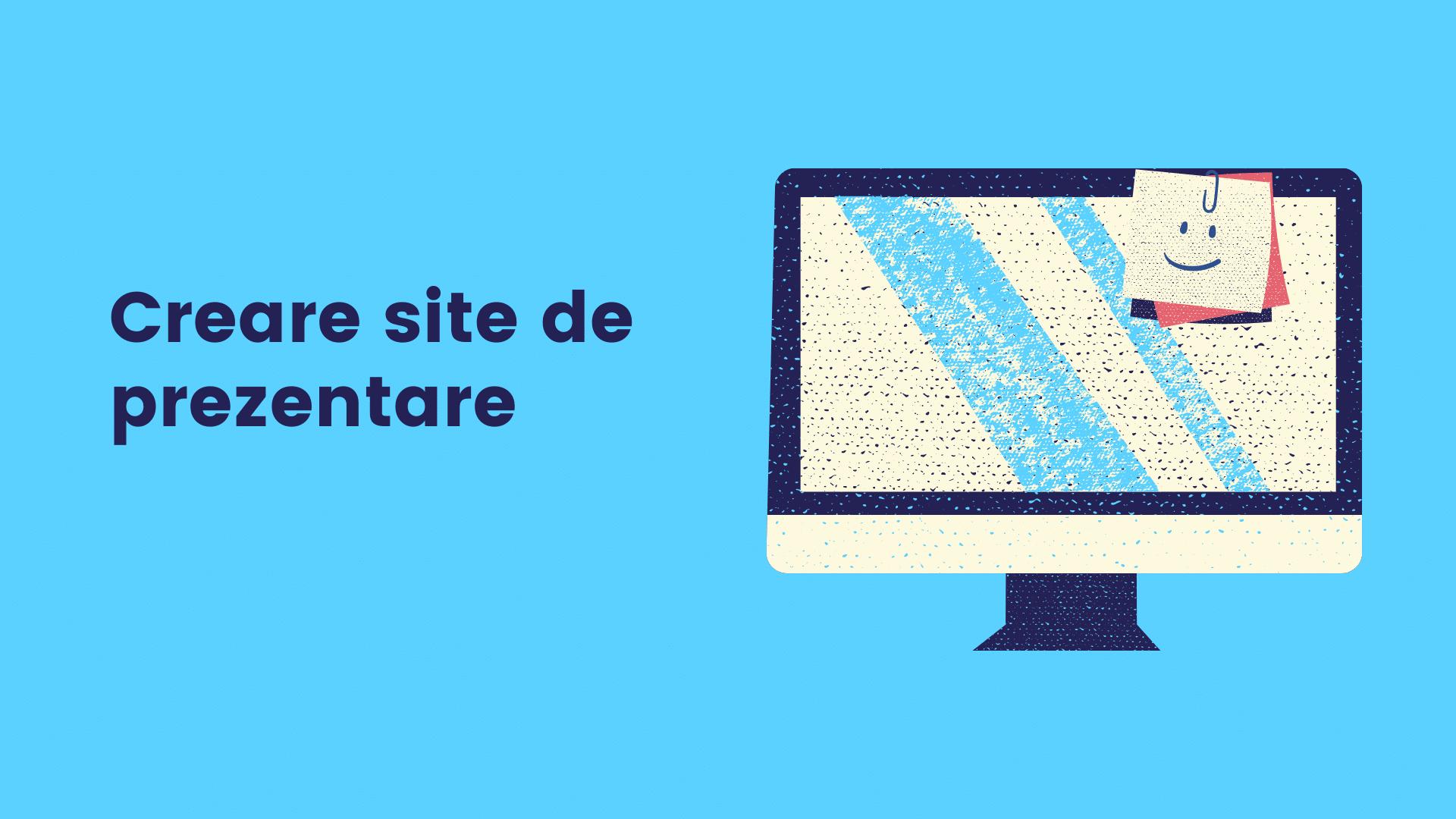 Creare site de prezentare, firma web development, servicii web design cluj. Creare site de prezentare profesional, rapid, responsive, securizat HTTPS, actualizat. Servicii creare site pentru afacere online. Firma software oferim servicii creare site profesional cu design modern.